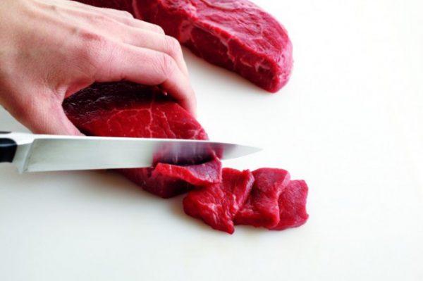 Cách thái thịt bò.