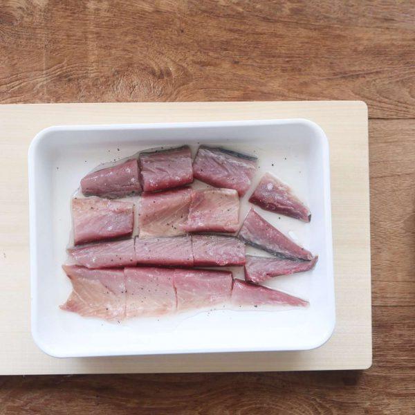 Cá thu lọc lấy thịt phi lê