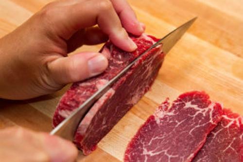 Cách thái thịt bò ngon.