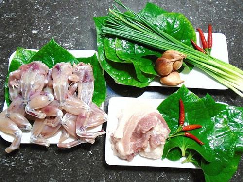 Nguyên liệu nấu lẩu ếch