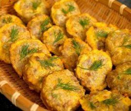 Món chả thịt đậu phụ chiên thơm ngon không thể chối từ