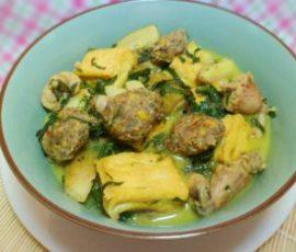 Ếch nấu chuối đậu phụ - món ăn ngon bổ dưỡng tốt cho sức khỏe.