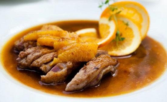 Món thịt vịt xốt cam