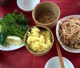 Xôi xụm - món đặc sản bạn không nên bỏ qua khi tới Lào
