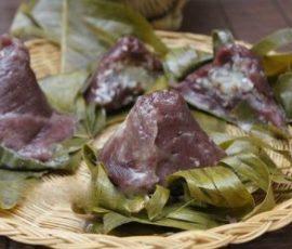 Bánh ít nếp cẩm mộc mạc mang hồn quê Nam Bộ