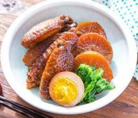 Cánh gà om củ cải đơn giản mà ngon miệng