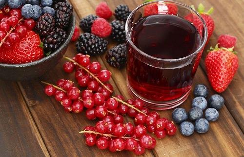 Nước ép của những loại quả có màu tím