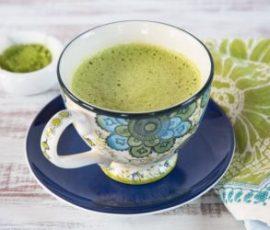 Matcha latte trà xanh mát lạnh và độc đáo