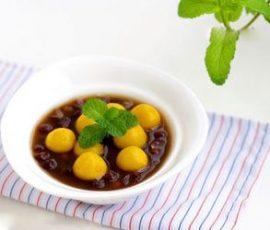 Chè đậu đỏ bí ngô dẻo thơm bổ dưỡng và đẹp mắt