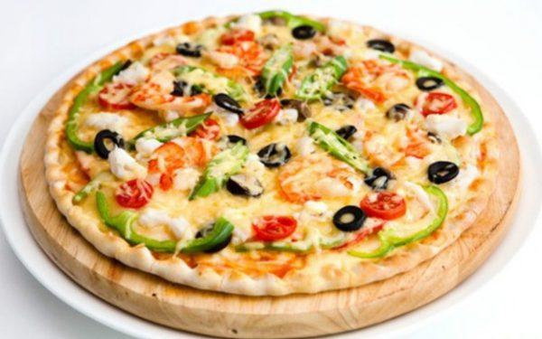 Món bánh pizza chay