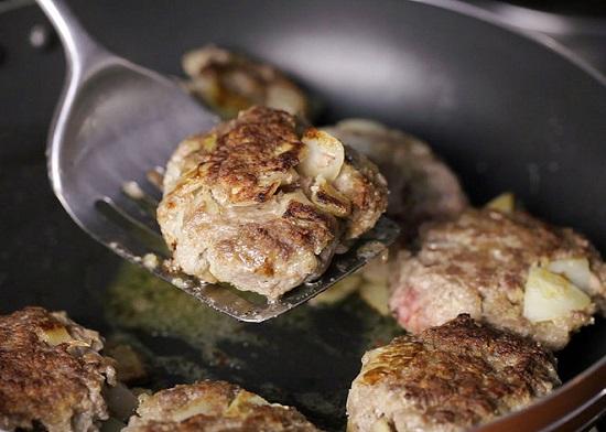 Chiên thịt bò