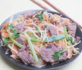 Thịt bò xào củ cải ngon và bổ dưỡng cho cả nhà