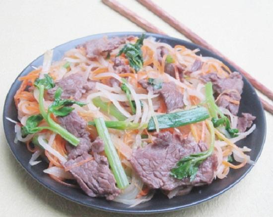 Thịt bò xào củ cải ngon và bổ dưỡng