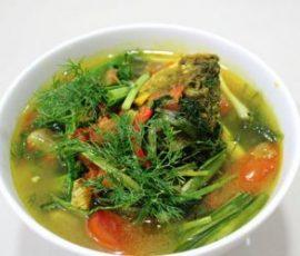 Canh cá chép nấu riêu ngon bổ dưỡng tốt cho mẹ bầu