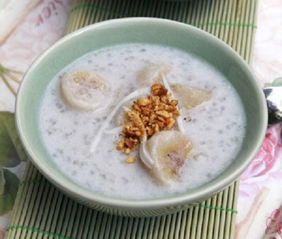 Món chè chuối nước cốt dừa ngon
