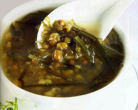 Món chè đậu xanh, hải đới