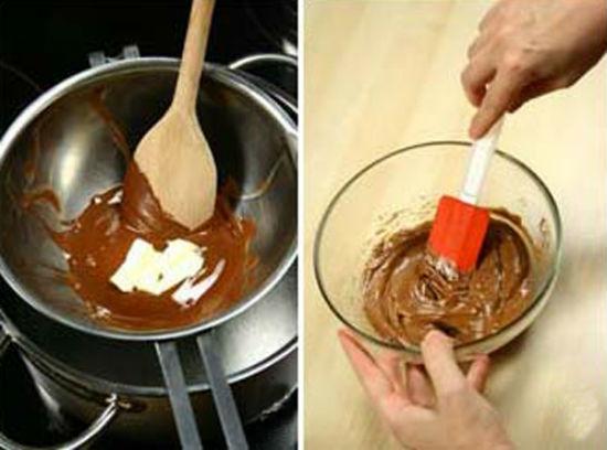 Đun cách thủy chocolate cho nóng chảy