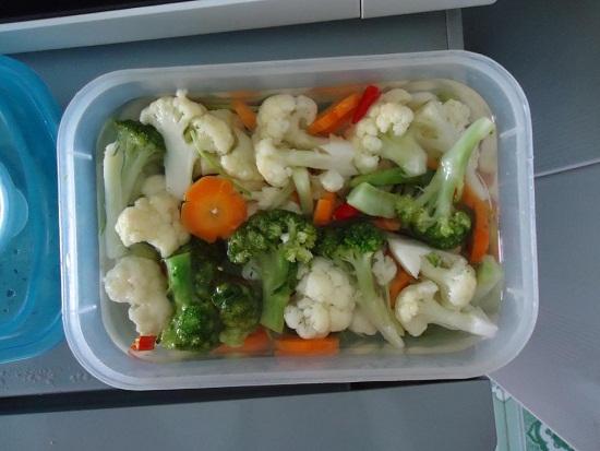 Chế biến bông cải