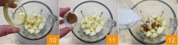 Cho mật ong,bột quế và sữa tươi vào xay cùng