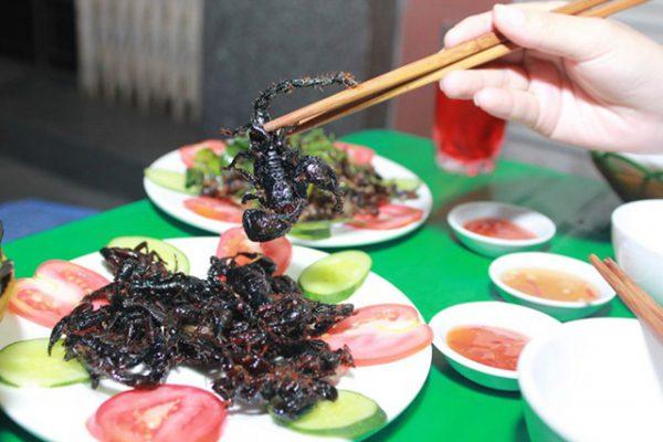 Thưởng thức món ăn từ bò cạp
