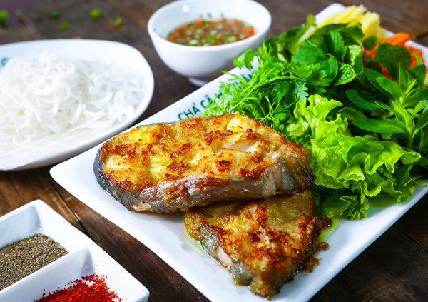 Món cá lăng nướng