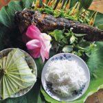 Cá lóc nướng cuốn lá sen – Món đặc sản quê hương Đồng Tháp