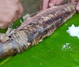 Cá trầm hương nướng đặc sản của Bản Giốc- Cao Bằng