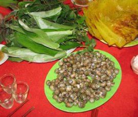 Bánh xèo ốc gạo Bến Tre món đặc sản dân dã