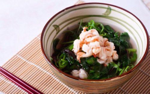 Canh rau dền nấu tôm cho bữa cơm ngày hè