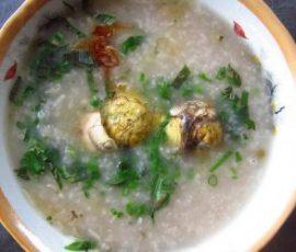 Cháo trứng vịt lộn ngon và bổ dưỡng