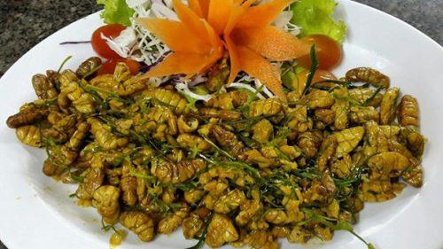 Gỏi nhộng ong món đặc sản ngon tuyệt của ẩm thực Cà Mau