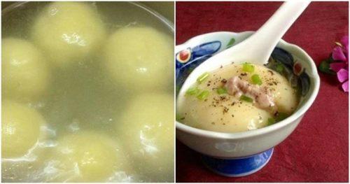 Súp khoai tây viên nhân thịt vừa ngon vừa bổ dưỡng