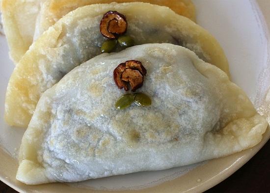 Bánh gạo chiên nhân đậu xanh mới lạ