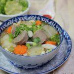 Món canh bò viên rau củ ngon bổ dưỡng mà hấp dẫn