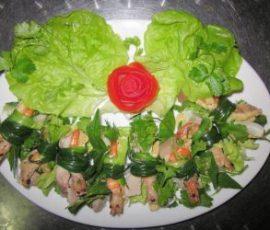 Món cuốn tôm hành Ninh Bình đặc sản chống ngán trong ngày Tết