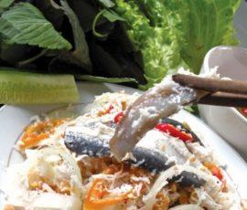 Gỏi cá bỗng sông Lô đặc sản của Tuyên Quang
