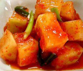 Món kim chi củ cải ngon và lạ miệng