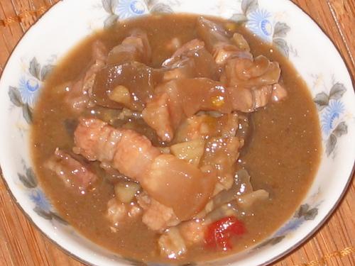 Món mắm thịt ba rọi đưa cơm trong ngày mưa