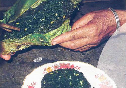 Món rêu đá nướng