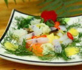 Mực xào rau củ thơm ngon và đơn giản tại nhà
