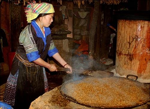 Cách nấu rượu ngô Na Hang