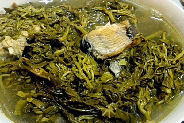 Canh cá rau sắn
