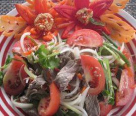 Salad thịt bò ngon bổ dưỡng mà dễ ăn