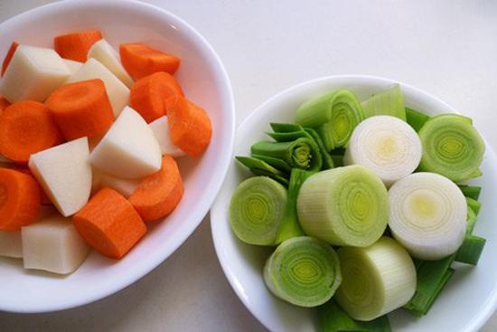 Sơ chế rau củ