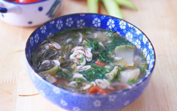 Món tép Dầu nấu canh cải chua