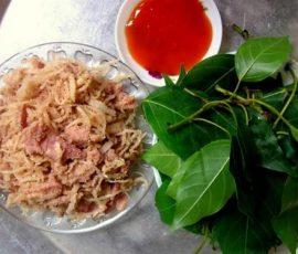 Thịt lợn muối chua của dân tộc Mường - Hòa Bình