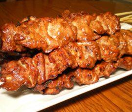 Thịt lợn rừng xiên nướng Mai Châu Hòa Bình
