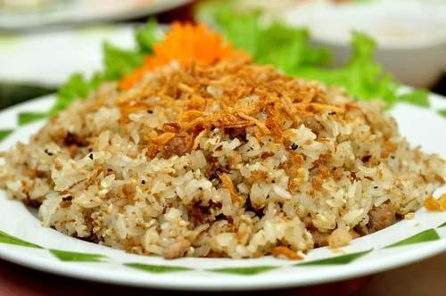 Món xôi trứng kiến Nho Quan Ninh Bình