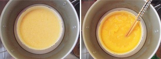 Hấp cách thủy hỗn hợp trứng sữa