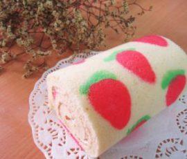 Món bánh bông lan cuộn màu sắc ngon đẹp mắt
